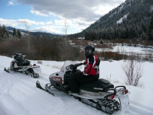 Snowmobiling at Grey's River