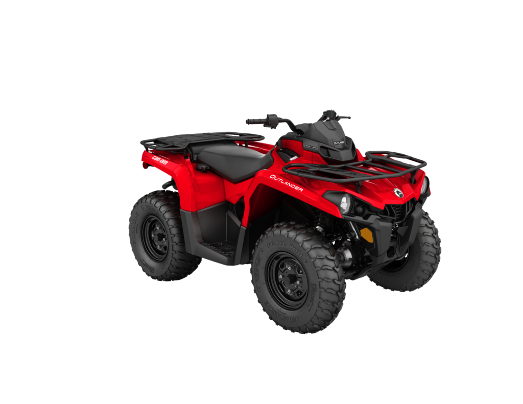 Pictured first are ATVs, commonly referred to as Four Wheeler's or Quads.  They come in both single and double seat. These have front and rear storage  racks ...